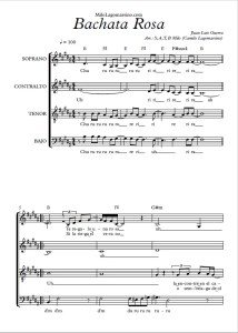 partitura coral a 4 voces gratis partitura de bachata rosa para coro pdf