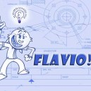 """Title card rough for short film """"Flavio"""" premiering on Nickelodeon in 2008"""