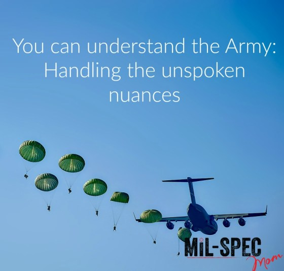 you can understand the army