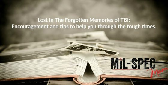 lost in the forgotten memories of TBI