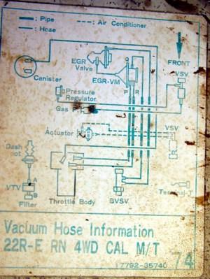 vacuum diagram for '87 pickup  YotaTech Forums