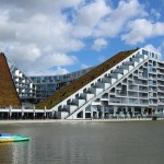 Big and bold architecture of Copenhagen. The 8 House.