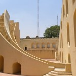 Modernist architecture of Jantar Mantar, India.