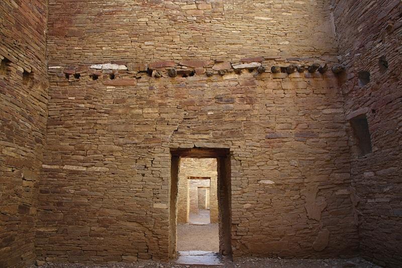 Interior walls with doorways.