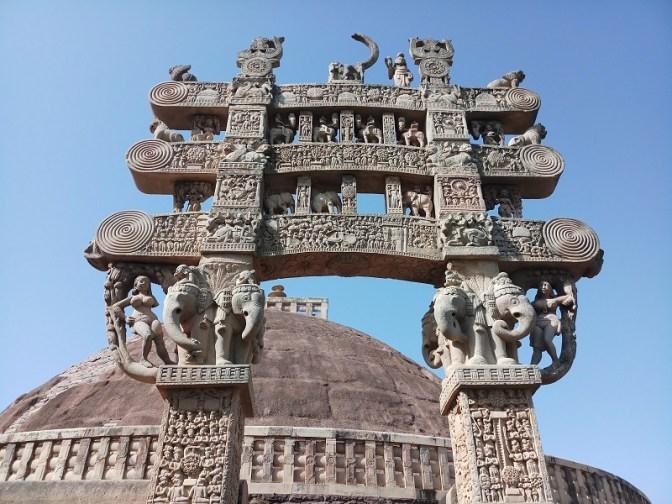 Buddhist Torana at Sanchi Stupa, India 300 BC