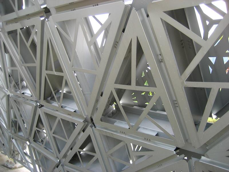 Detail of triangular panel
