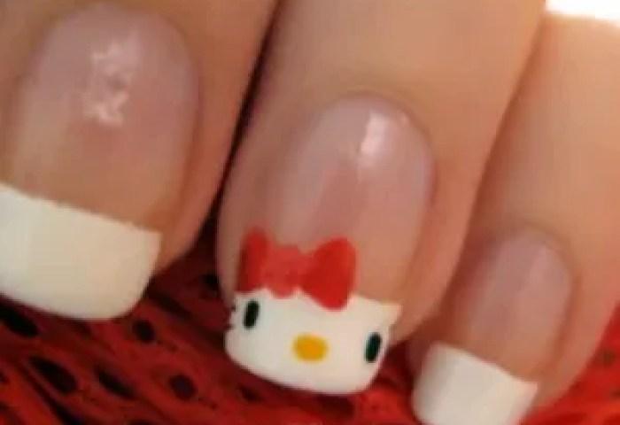 2 Formas De Diseñar Uñas De Hello Kitty Paso A Paso