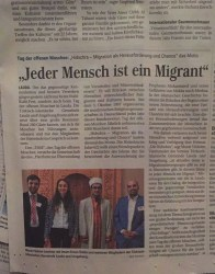 """""""Jeder Mensch ist ein Migrant"""""""