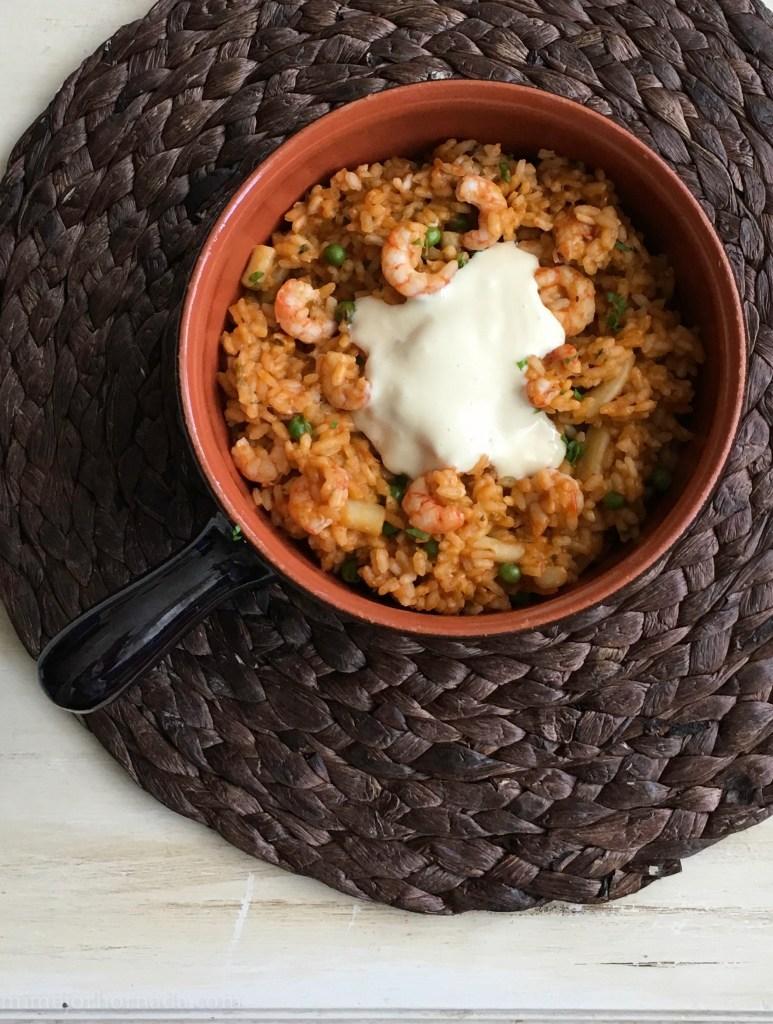 receta arroz con gambas y sepia