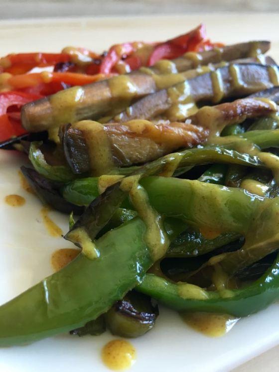 verduras a la plancha con salsa de mostaza y miel www.mimejorhornada.com