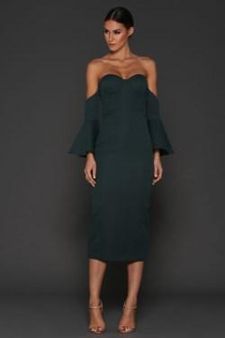 Elle Zeitoune Electra Bottle Green Dress