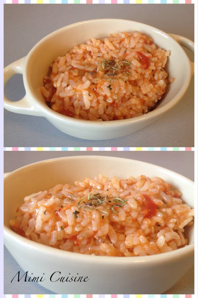 risotto a la tomate recette cookeo