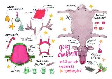 Weihnachtsrentierchen zum selber basteln