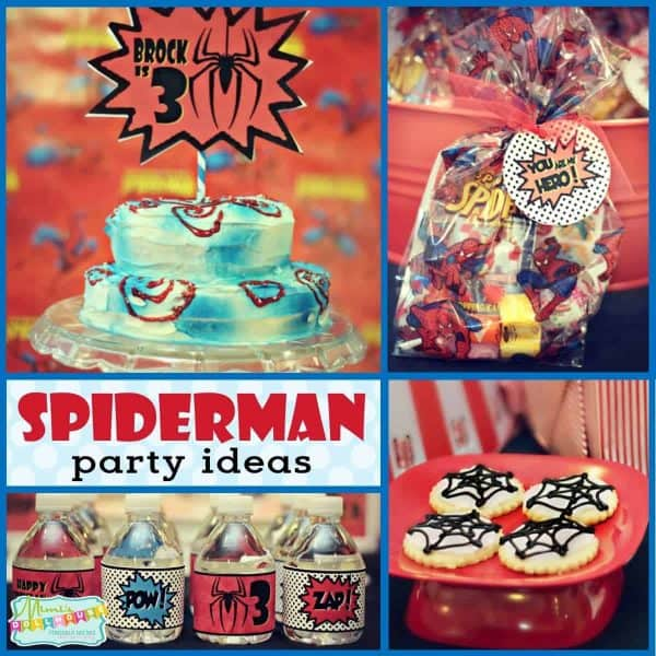 Budget Friendly Vintage Spiderman Birthday Party Mimi S Dollhouse
