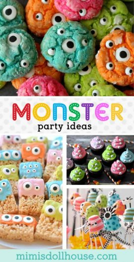 Monster Party Monster Birthday Party Ideas And Desserts Mimi S Dollhouse