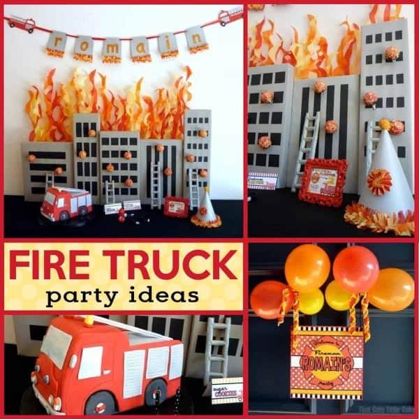 Flaming Hot Fireman Birthday Party Mimi S Dollhouse