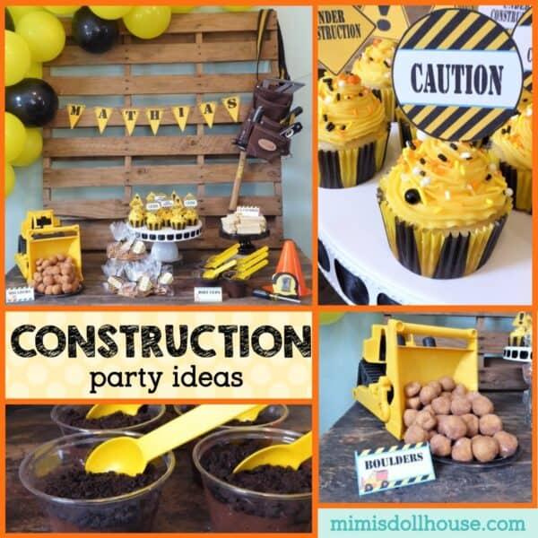 Easy Diy Construction Theme Party Ideas Mimi S Dollhouse