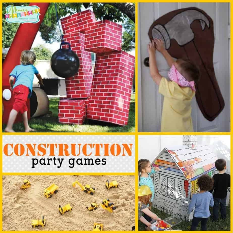 Super Fun Construction Party Games Mimi S Dollhouse