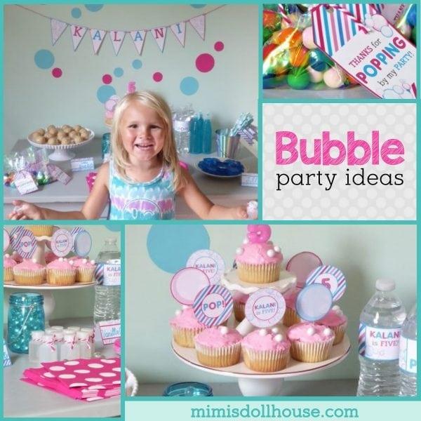Bubbles Birthday Party Bright And Bubbly Birthday Mimi S Dollhouse