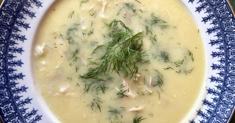 Greek Creamy Chicken Lemon Soup Featured