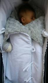 Saco bebe para capazo tela plants pelo vison