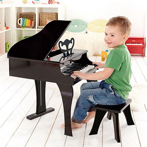 PIANO INFANTIL DE JUGUETE NEGRO