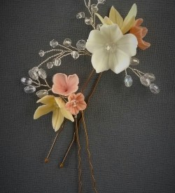 small bridal flower hair pins