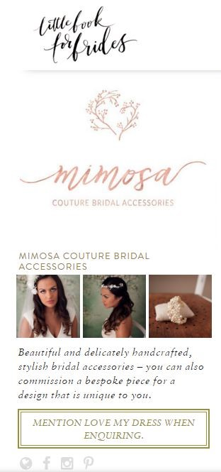 little book for brides Mimosa 2
