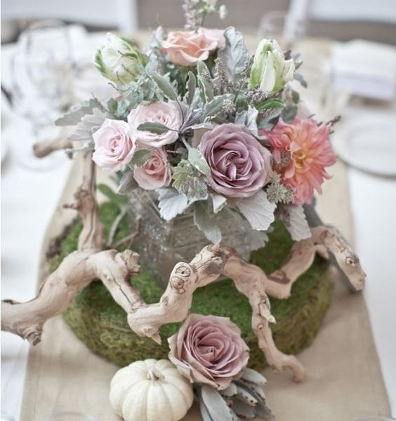 Venue Decoration and Party Ideas, Moss & Naturals