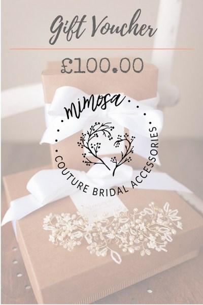 wedding accessory gift voucher