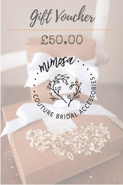 Bridal accessory gift voucher
