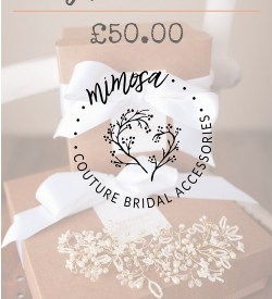 Bridal accessory gift voucher