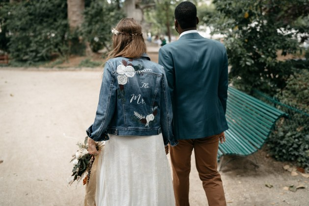 bespoke wedding jacket painting
