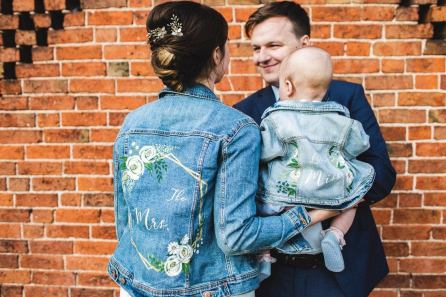 mummy and me bridal painted jacket