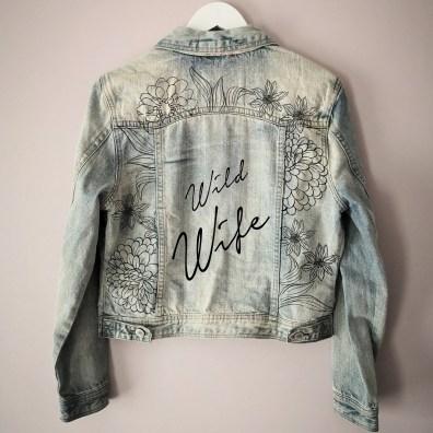 wild wife DIY Painted wedding jacket kit
