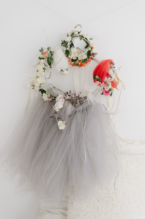soft grey tutu skirt
