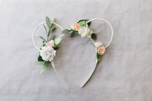 Floral Mini Mouse Ears bridesmaid head band