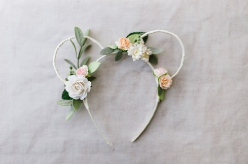 Floral Mini Mouse Ears bridesmaid head band