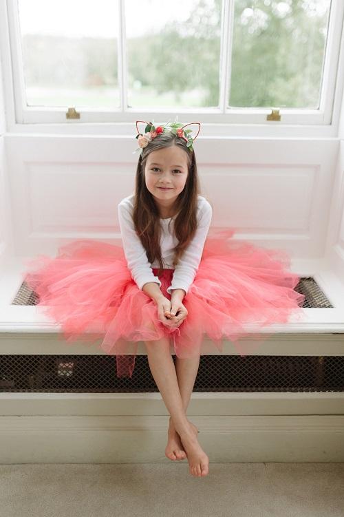 15a19db642 Coral bridesmaid tutu skirt
