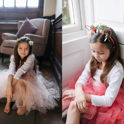 Coral flower girl tutu skirt uk