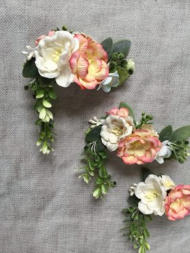Bespoke flower girls hair clips