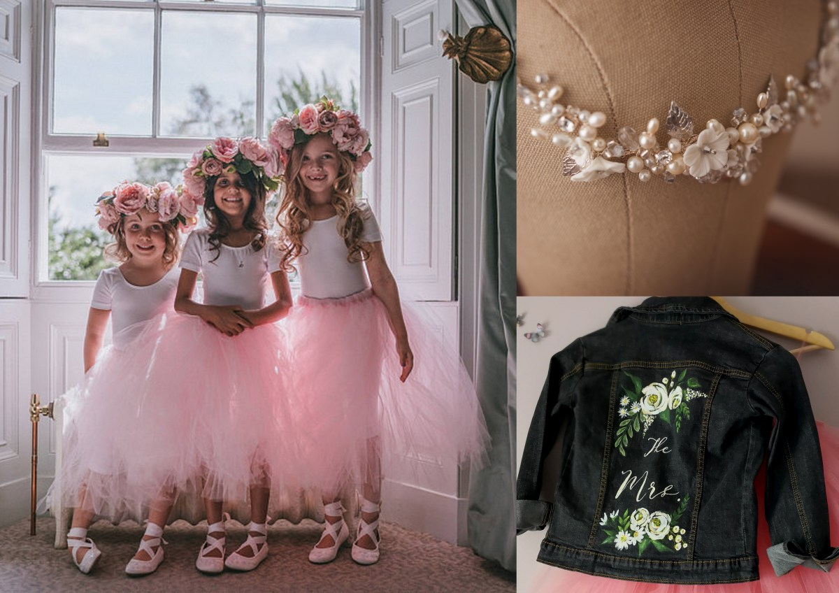 bespoke wedding skirts and painted jackets
