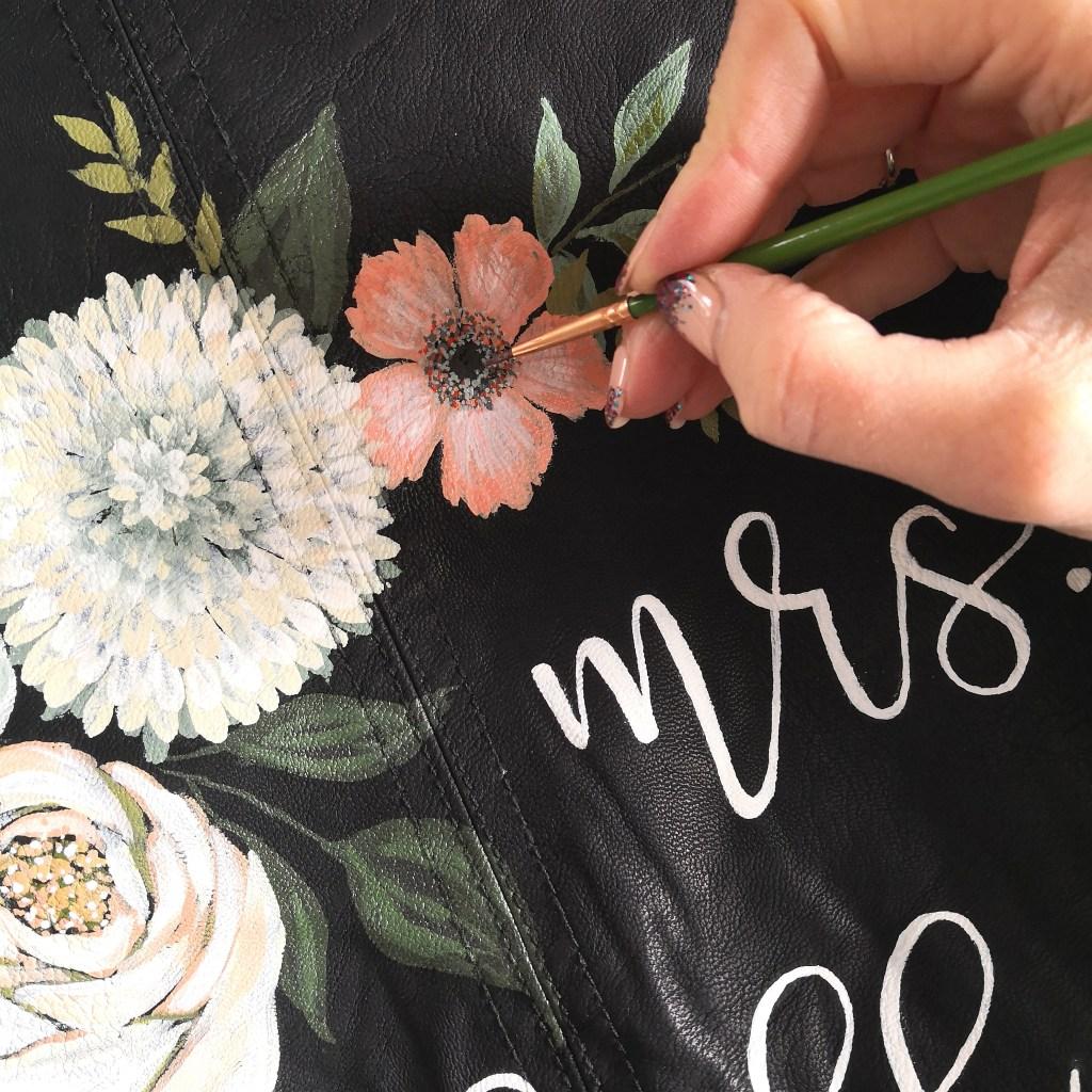 hand painted wedding jacket