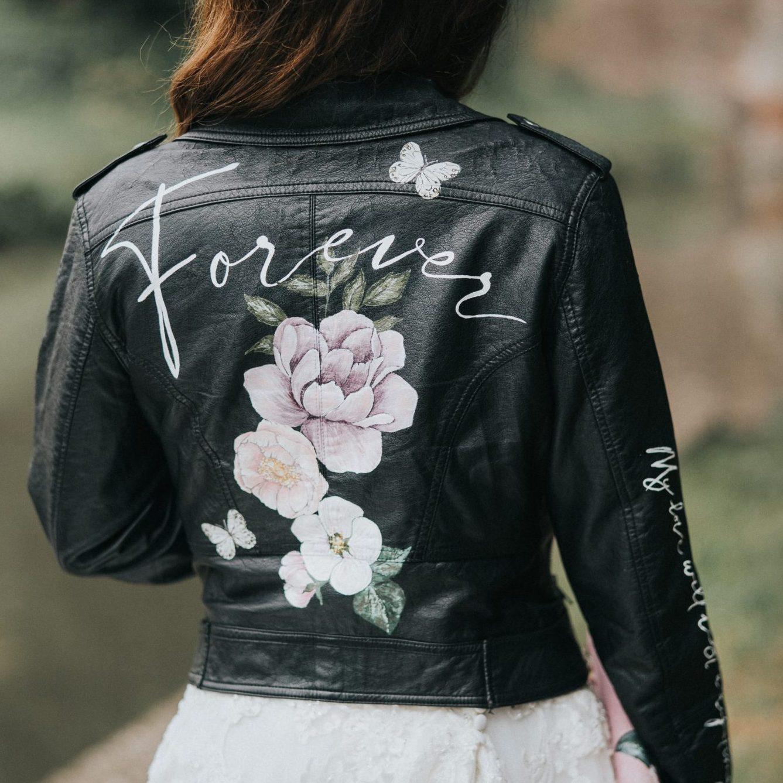 painted leatter wedding jacket
