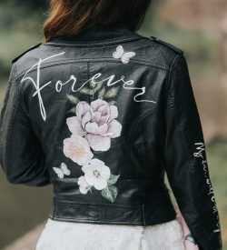 painted leatter wedding jacket