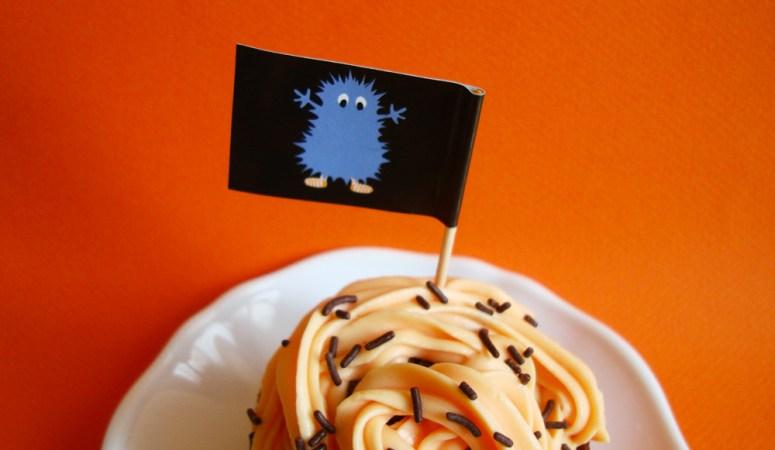 Cupcake aux couleur d'Halloween !