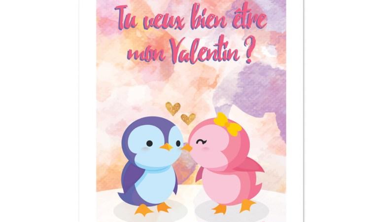 Tu veux bien être mon Valentin ? (Printable & freebies)