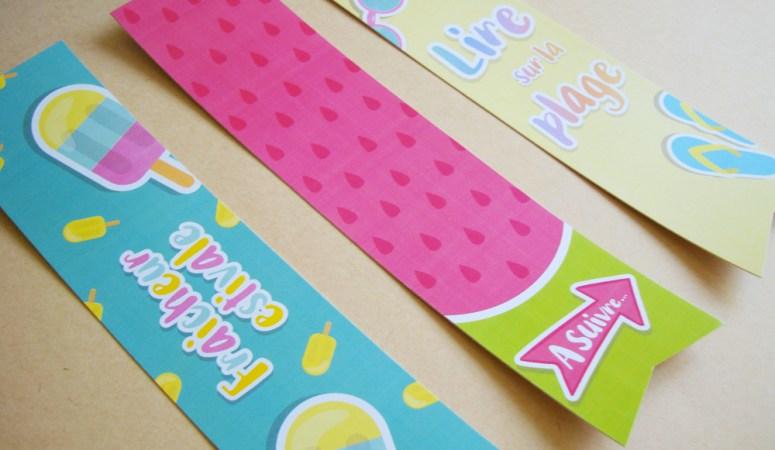 Marque-page estival (Freebies & Printable)
