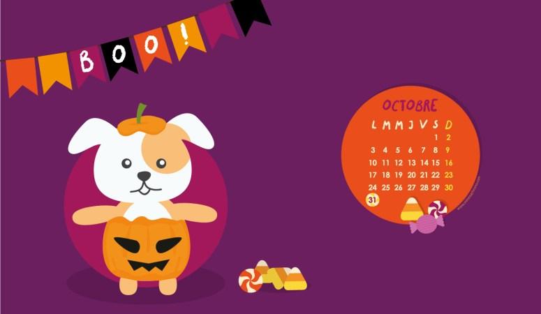 Calendrier d'octobre 2016 à télécharger