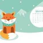 Calendrier de Janvier 2018 (Freebies & Printable)